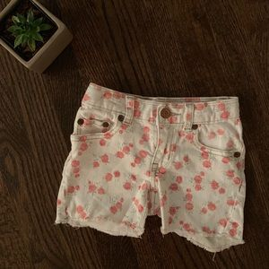 Peek S4 Girls Flowered Denim Shorts